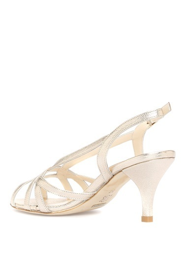 Beymen Collection İnce Topuklu %100 Deri Sandalet Altın